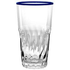 Kidd White/Blue Water Glasses (Set of 6)