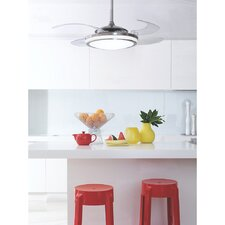 """48"""" Callicoat Modern 4-Blade Ceiling Fan with Handheld Remote"""