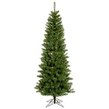 Salem Pencil Pine 4.5' Green Artificial Christmas Tree with 150 Multicolored Lights with Stand