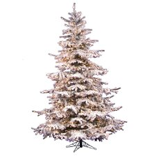 Flocked Sierra 10' White Fir Artificial Christmas Tree with 1450 Clear Lights
