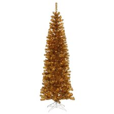 Colorful 5' Ant Gold Artificial Christmas Tree with 200 Clear Lights