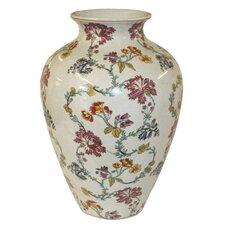 Thousand Flowers Crackle Glazed Vase