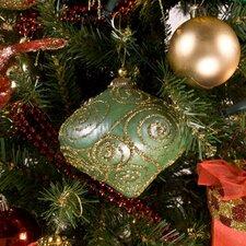 Glitter Swirl Minaret Shaped Ornament (Set of 3)