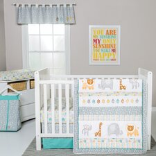 Lullaby Jungle 6 Piece Crib Bedding Set