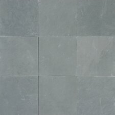 "Montauk 12"" x 12"" Slate Field Tile in Textured Blue"