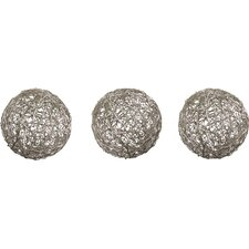 Fowler 3 Piece Wire Ball Sculpture Set (Set of 3)
