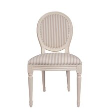 Louis Round Back Striped Dining Chair