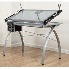Futura Glass Drafting Table