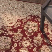Darcy Hand-Woven Red/Beige Area Rug