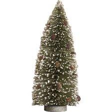 "Pincone Bottlbrush 11"" Green Pine Artificial Christmas Tree"