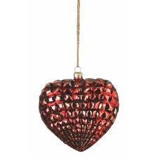 Wintersong Heart Glass Ornament