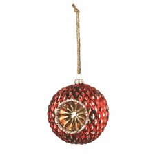 Wintersong Reflector Glass Ball Ornament