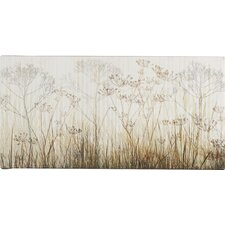 Wildflowers Ivory by Cora Niele Acrylic Painting Print on Canvas