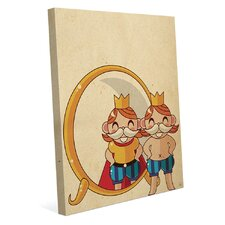 The Emperor's New Clothes Graphic Art on Wrapped Canvas