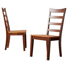 Dixon Ladderback Solid Wood Dining Chair (Set of 2)