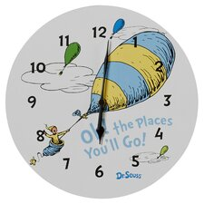 """Dr. Seuss """"Oh The Places You''ll Go 11"""" Wall Clock"""