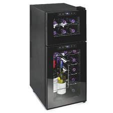 21 Bottle Silent Series Dual Zone Freestanding Wine Cooler