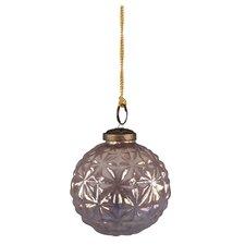 Amethyst Glass Lustre Bauble Ornament