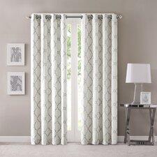 Winnett Geometric Semi-Sheer Grommet Single Curtain Panel