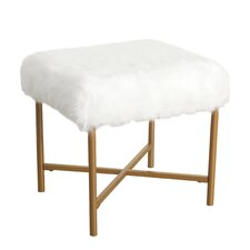 Whiston Faux Fur Stool