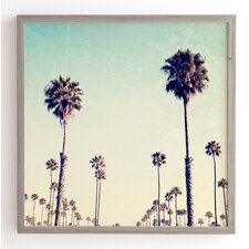 California Palm Trees Framed Photographic Print