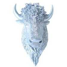 Faux Taxidermy Bison Head Wall Décor