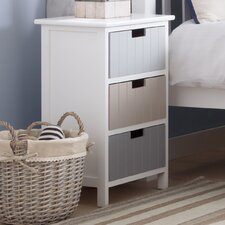 Carver 3 Drawer Bedside Table