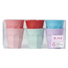 Melamine Curved Cup (Set of 6)