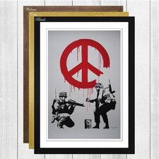 'Peace Wall Graffiti' by Banksy Framed Painting Print