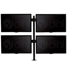 "Quad Arm Desk Mount Stand for 13""-24"" Screens TV"