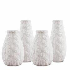 4 Piece Faux Knit Vases
