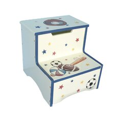 Sports All Star Game Step Stool with Storage