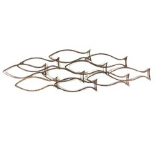 Fish Shoal Outline Wall Décor
