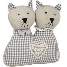 Mr. and Mrs. Cat Floor Fixed Cotton Door Stop