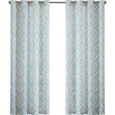 Bas Printed Etched Diamond Single Curtain Panel