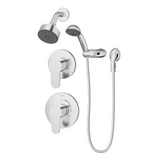 Identity Pressure Balance Spray Shower Faucet with Metal Lever Handle