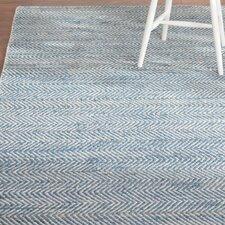 Charlestown Hand-Loomed Blue Area Rug