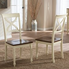 Baxton Studio Solid Wood Dining Chair (Set of 2)
