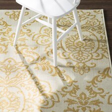 Carriage Hill Ivory/Gold Indoor/Outdoor Area Rug