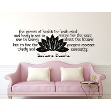 The Secret of Health Wall Decal