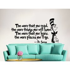Dr Seuss the More That You Read Decal Quote Sayings Wall Decal
