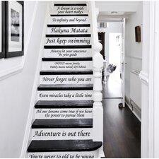 13 Steps Stairway Decal