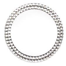 Jewelled Round Glass Wall Mirror