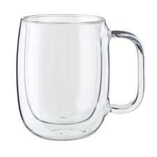 Sorrento Plus Double-Wall Glass Coffee Mug (Set of 2)
