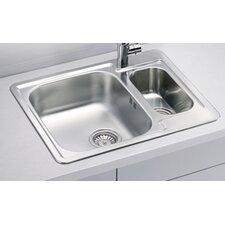 Alveus Line 50  61.5 cm x 50 cm Kitchen Sink