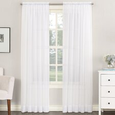 Emily Solid Sheer Rod Pocket Single Curtain Panel