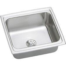 "Gourmet 19"" x 18"" Stainless Steel Single Bowl Top Mount Bar Sink"