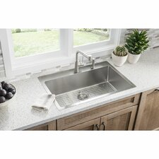 crosstown 33 x 22 stainless steel single bowl universal mount kitchen sink - Kitchen Single Sink