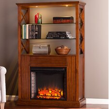 Blue & Unfinished Electric Fireplaces You'll Love   Wayfair
