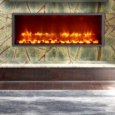 "35"" Built-in LED Wall Mount Electric Fireplace Insert"